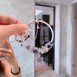 🐯Pandora Jewelry 'Blue Snowflake Kingdom'Bracelet